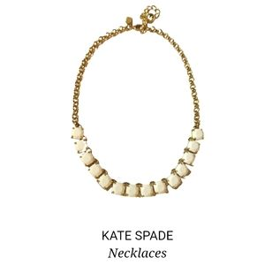 """NWOT Kate Spade """"Squared Away"""" necklace"""